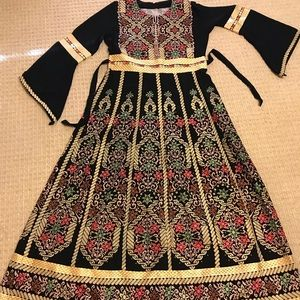 Palestinian Arab Middle Eastern Thobe Dress Henna!